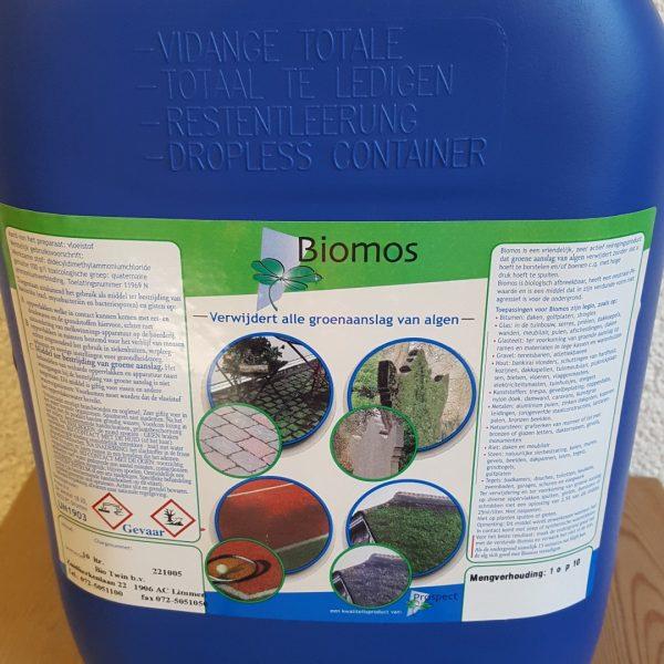 Biomos 10 ltr algaanlsag verwijderen stoep vlonder for Vijverfolie plakken