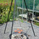 3 poot barbecue vuurschaal met rooster
